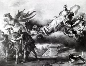 Jean-François de Troy. Médée s'enfuit après avoir tué ses enfants (1746). Musée du Louvre